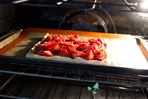 tart in the oven